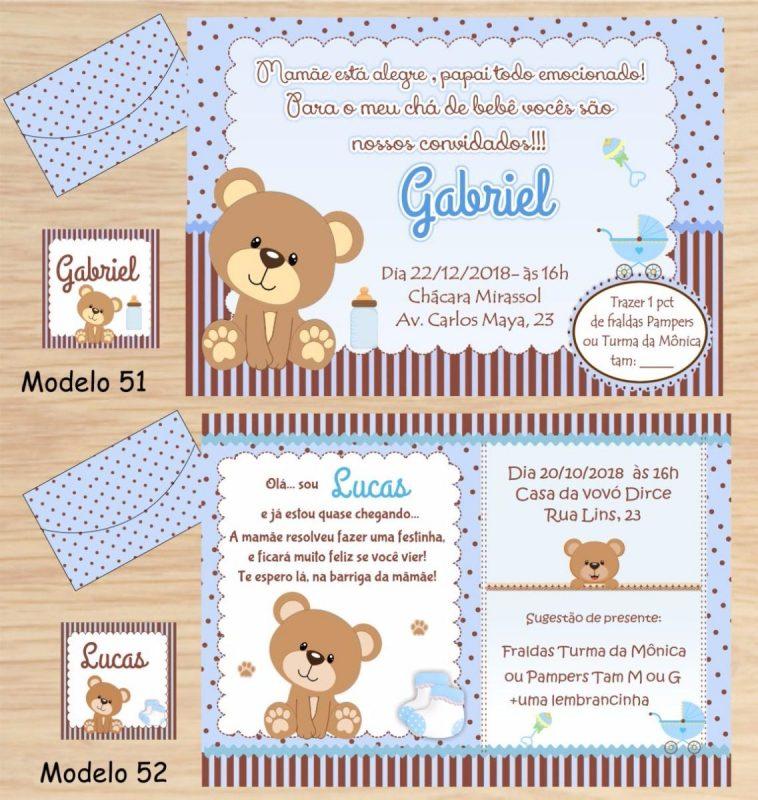 Modelo de Lista de Chá de Bebê