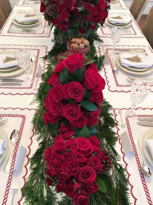 Arranjos de mesa de jantar
