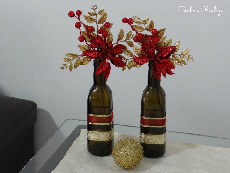 Artesanato de Natal – Garrafas Decoradas