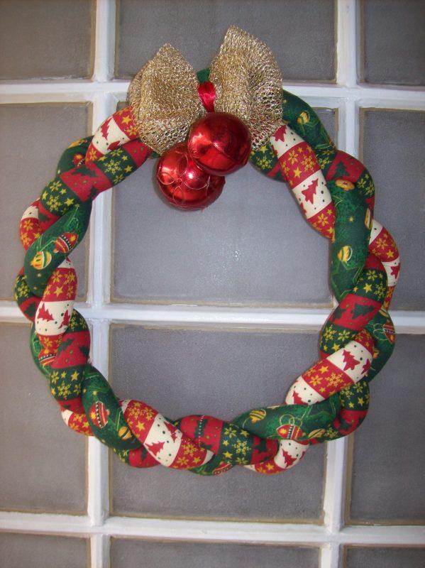Guirlanda de Natal em Tecido
