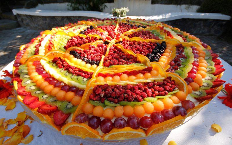 Mesa de Frutas Para Ano Novo