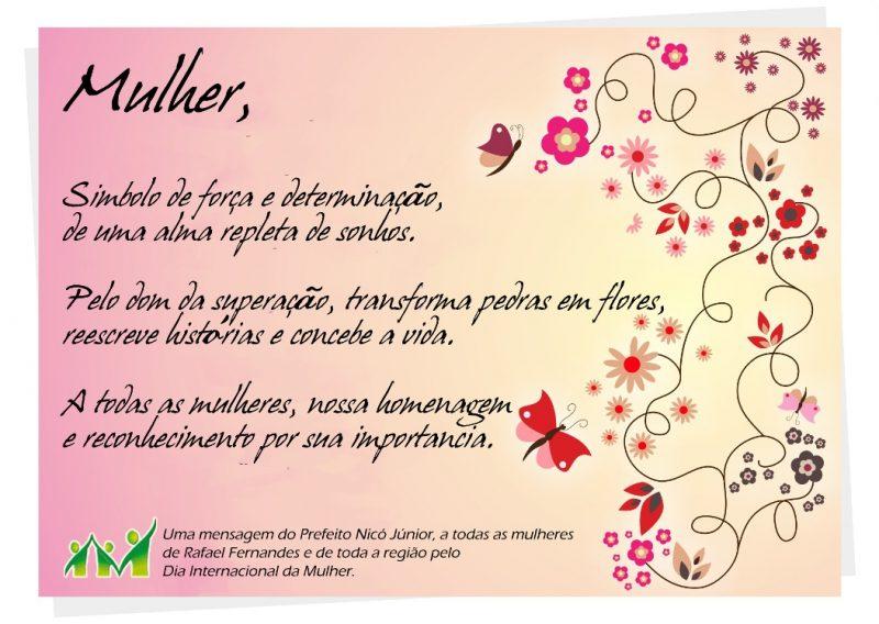 Mensagem Dia da Mulher Empresa
