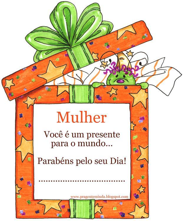 Mensagem Dia da Mulher Infantil