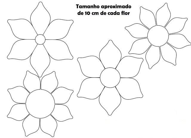 Molde De Flor De Papel De Eva Para Imprimir Fotos E