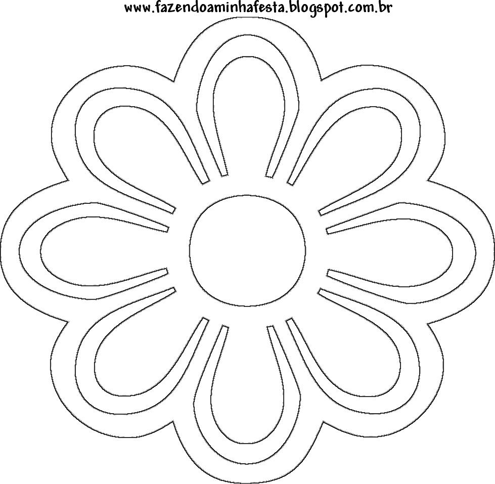 Molde De Flor De Papel De Eva Para Imprimir Fotos E Moldes