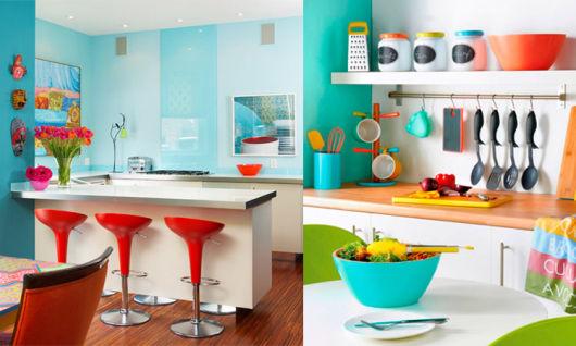 Cozinha Americana Colorida