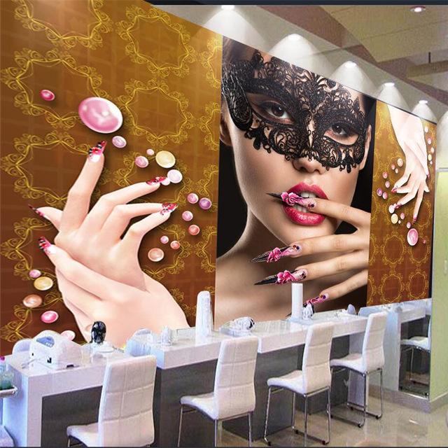 Decoração de Salão de Beleza Com papel de Parede