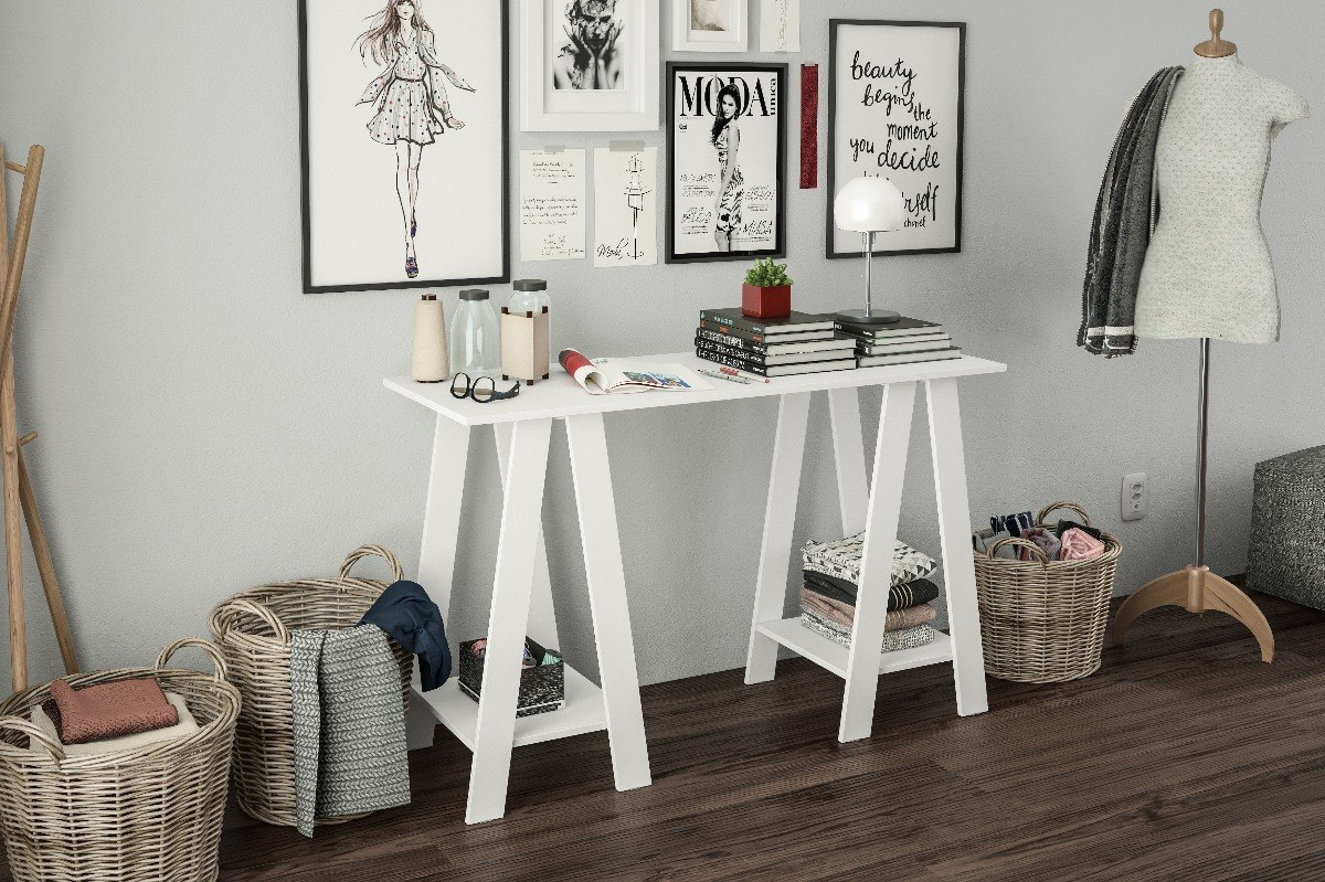 Mesa Com Cavalete Branca