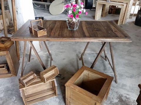 Mesa Com Cavalete Rústica