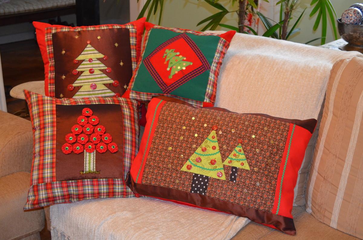 Almofadas de Natal em Patchwork