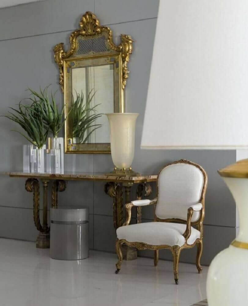 Aparador Com Espelho Para Hall de Entrada