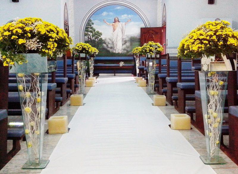 Arranjo para casamento na Igreja