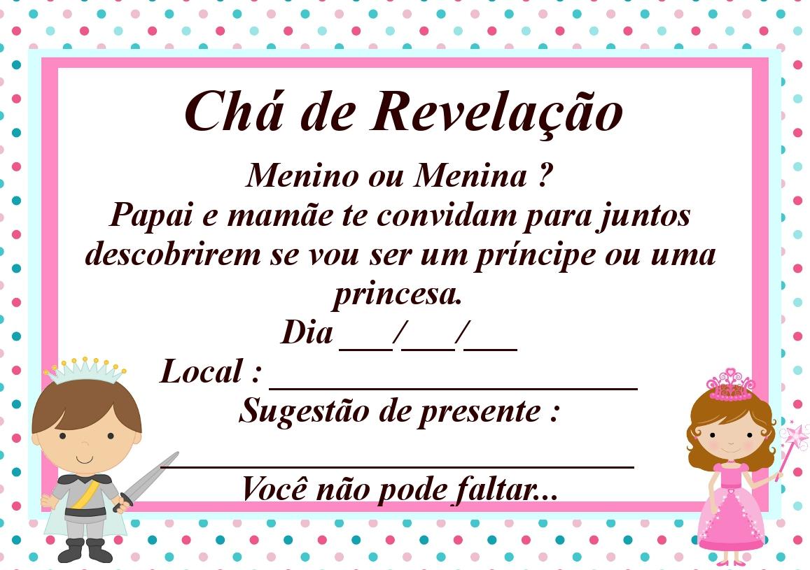 Chá de Revelação Convite