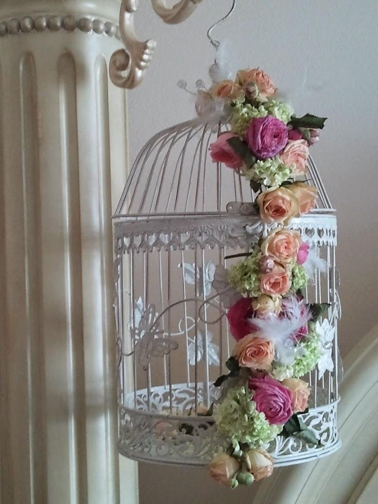 Gaiolas Decorativas Com Flores