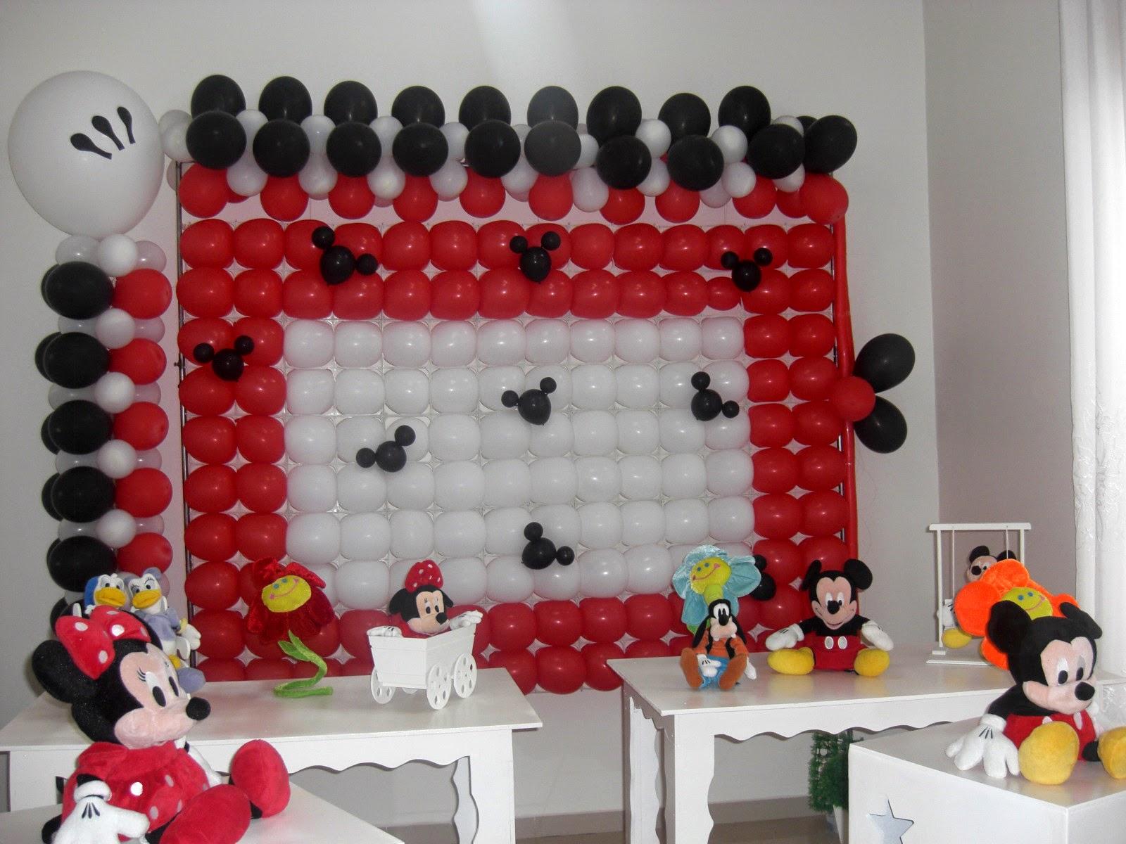 Painel de Bexigas Mickey