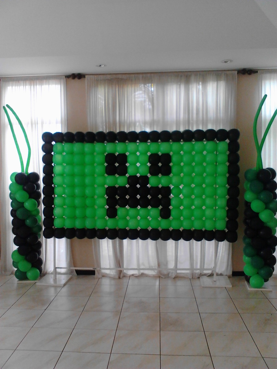 Painel de Bexigas Minecraft