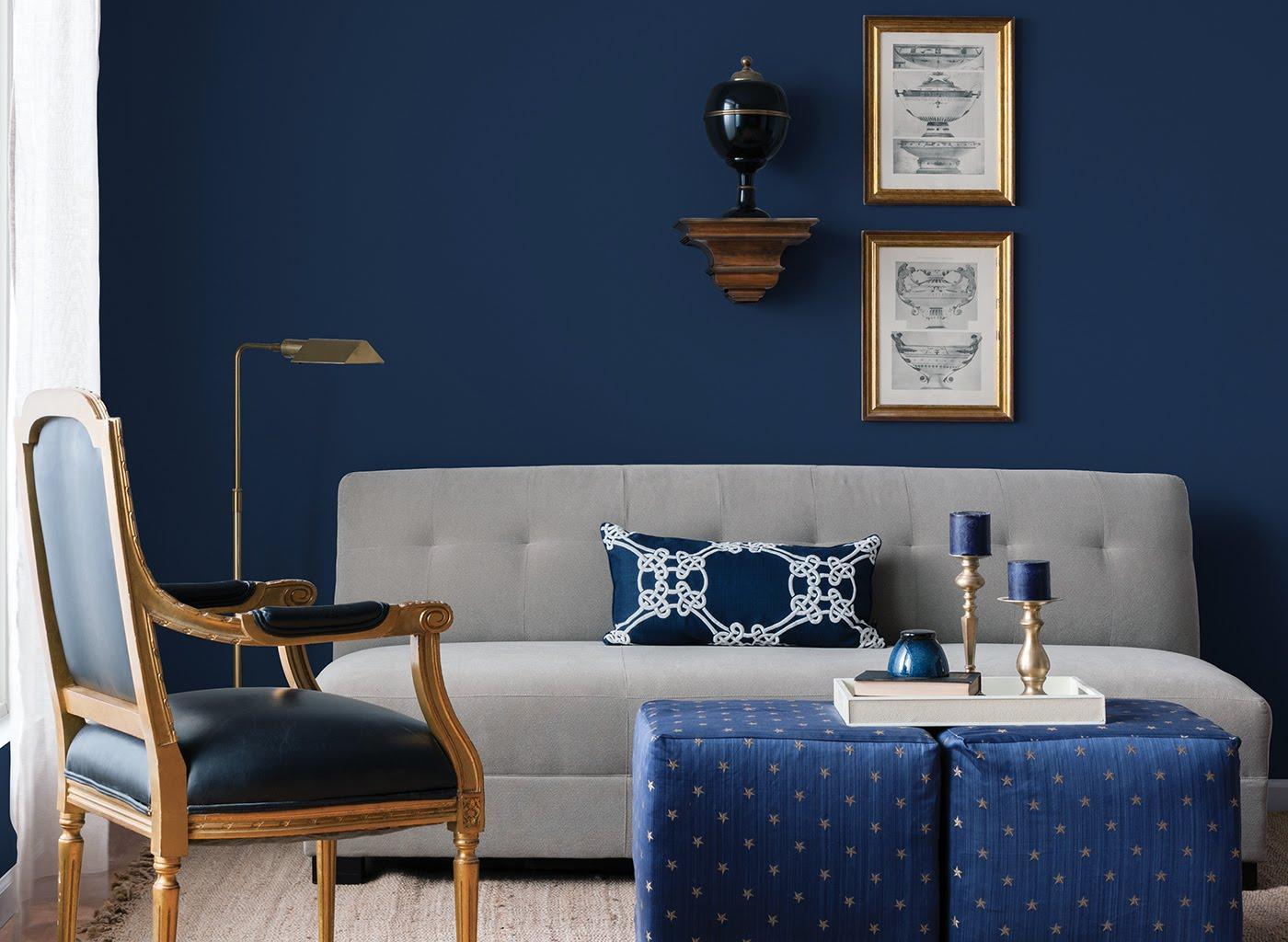 Azul Royal Na Parede Decora 231 227 O Quarto E Cores Que