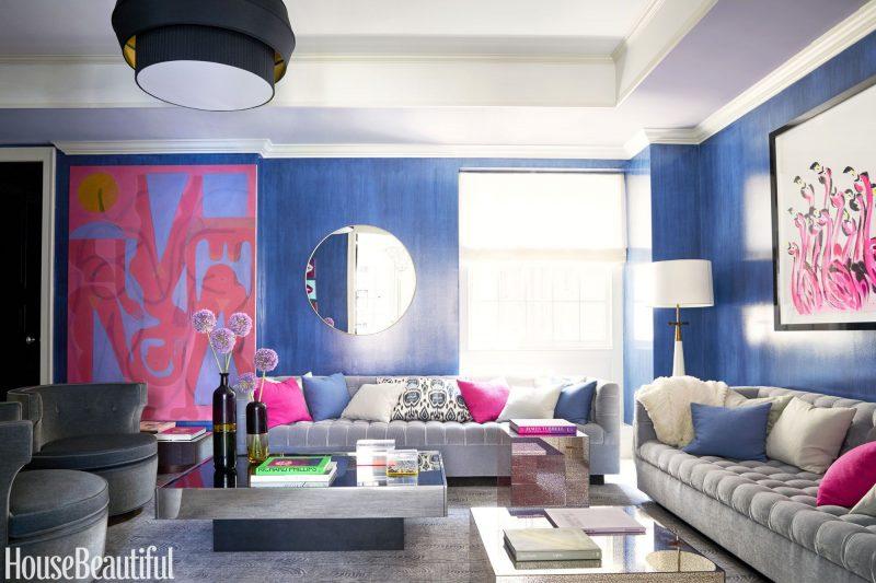 parede azul royal