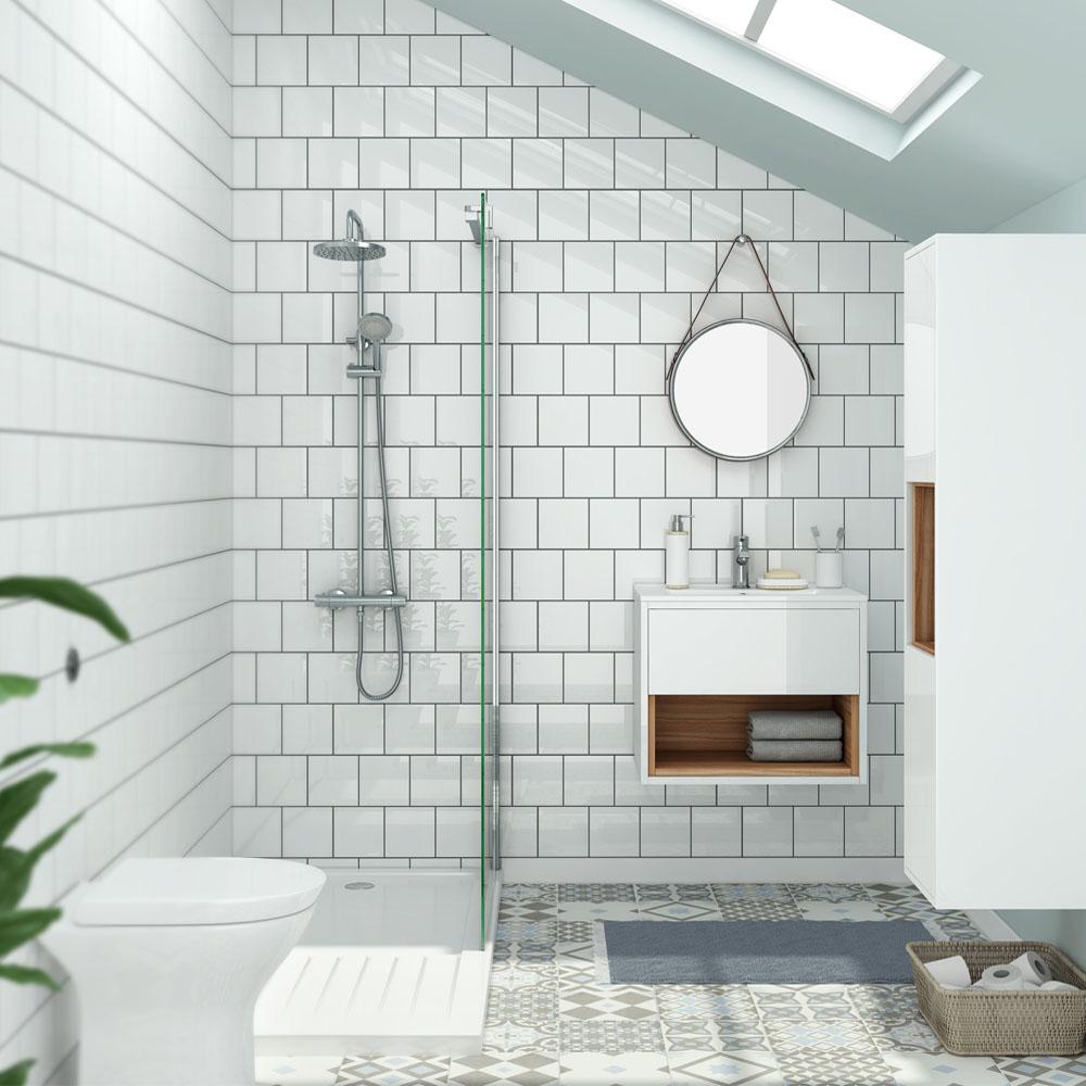 Azulejo Para Banheiro Quadriculado
