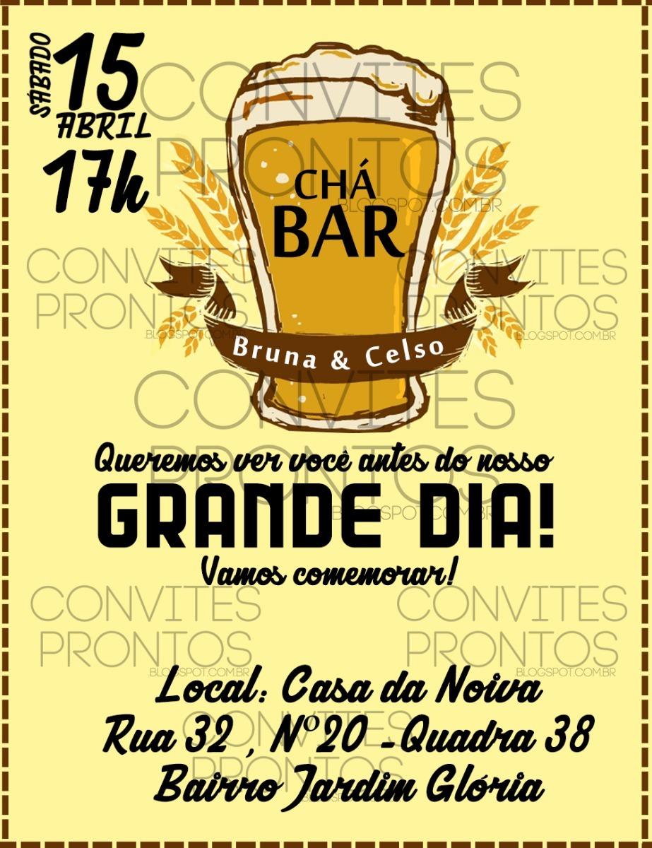 Chá de Bar Convite