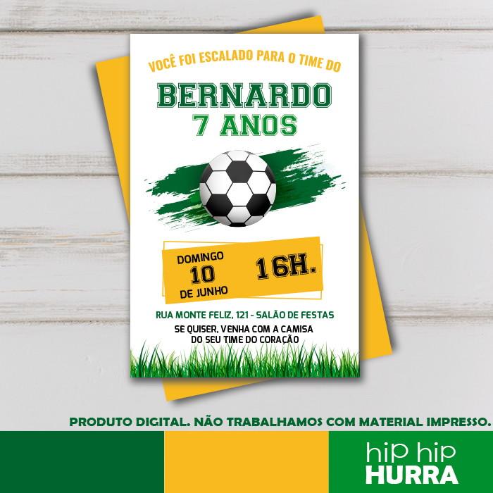 Convites para festa tema futebol