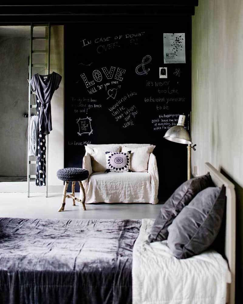 chalkboard quarto de casal