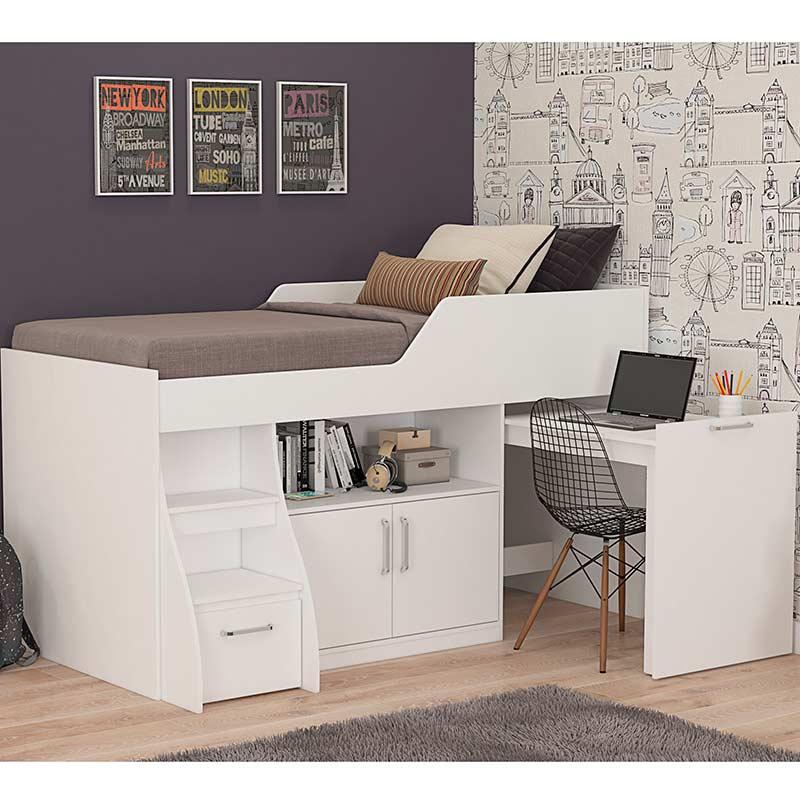 Cama Com Escrivaninha