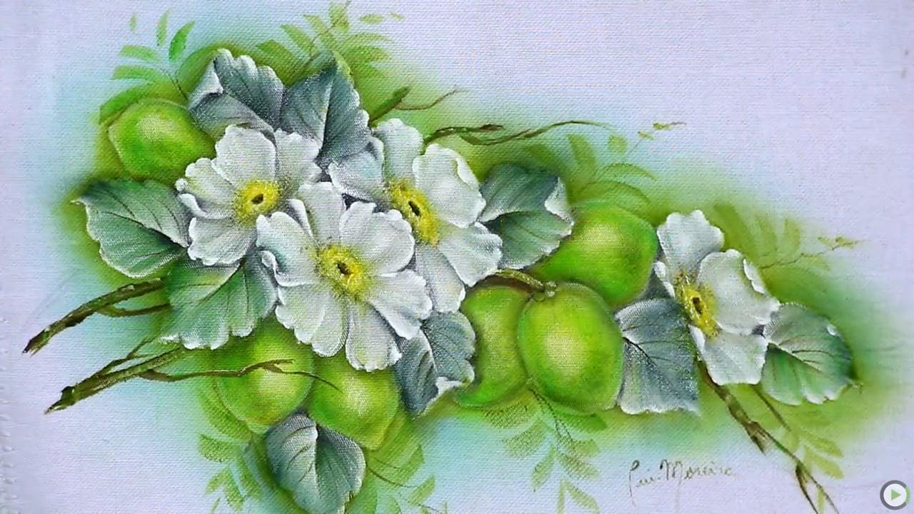 Para Pintura em Tecidos flores