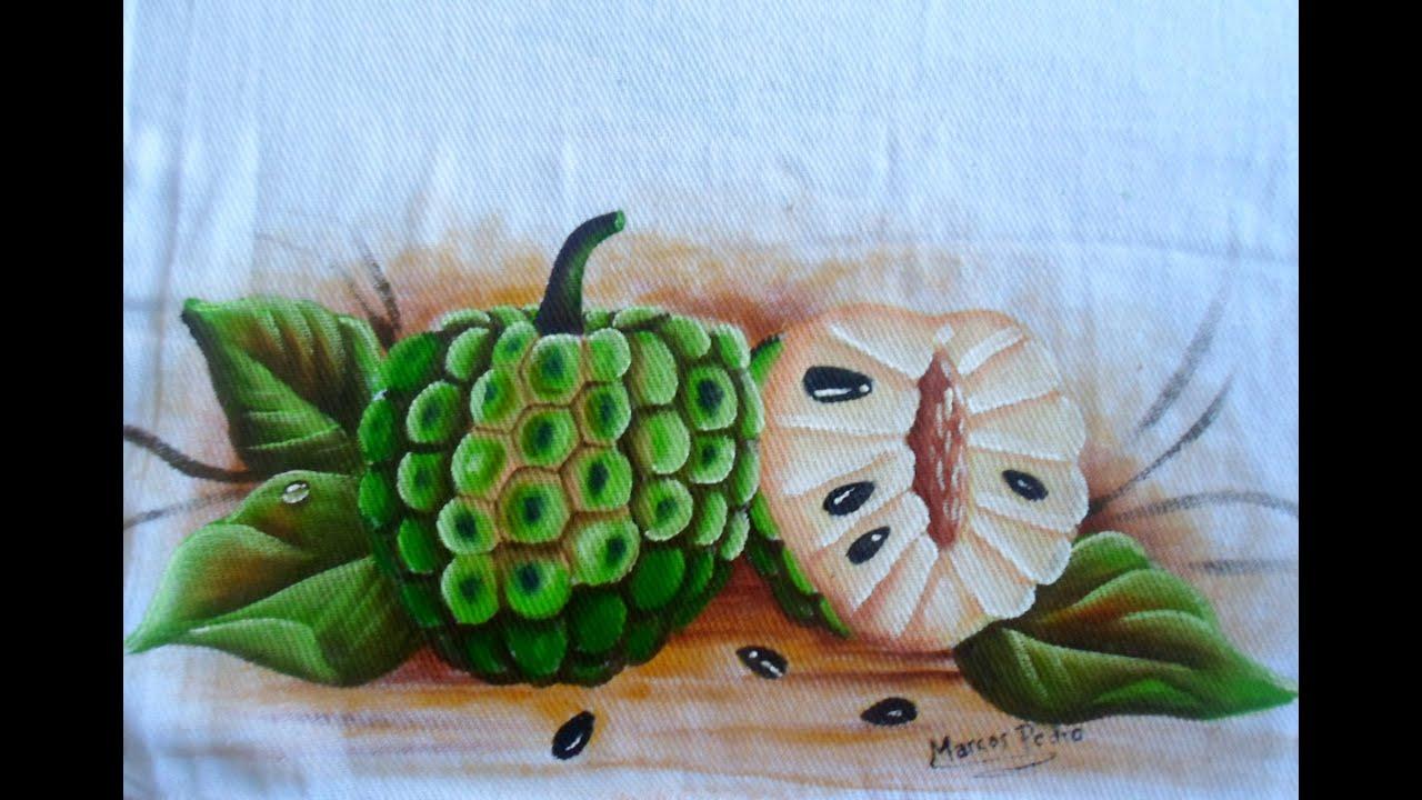 Para Pintura em Tecidos frutas