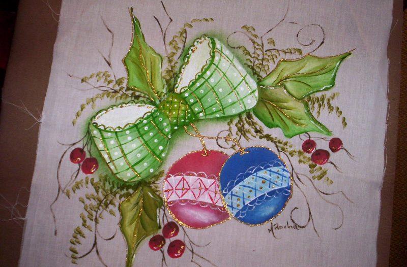 Para Pintura em Tecidos natal