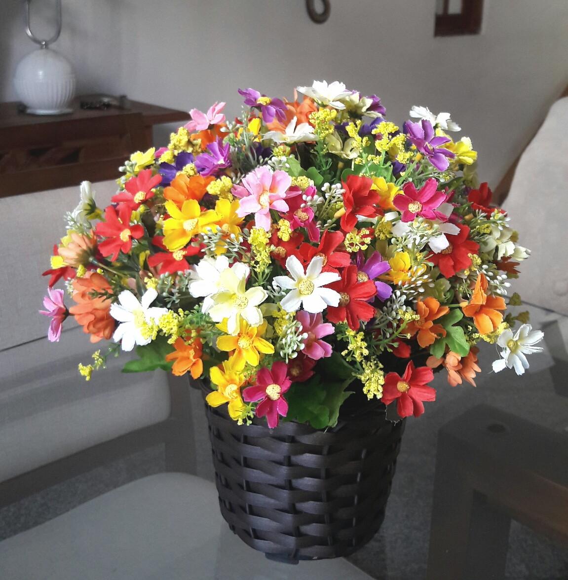 flores do campo artificiais
