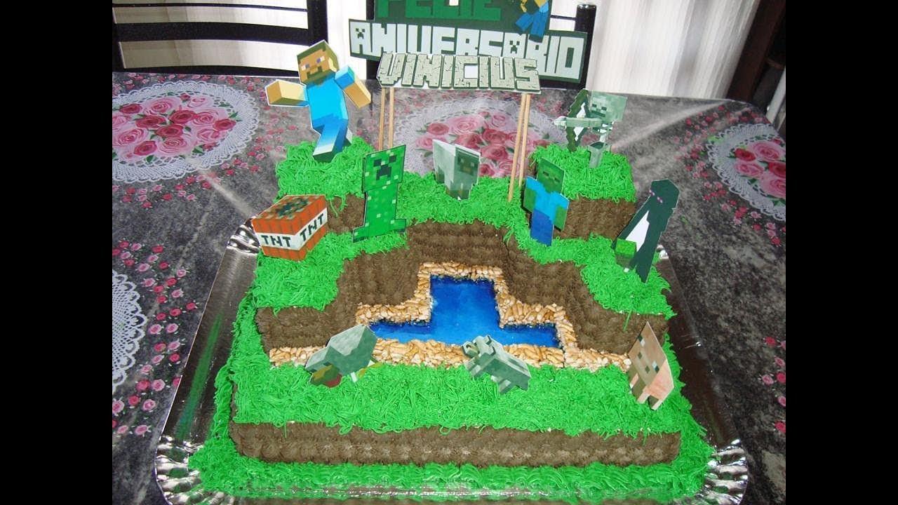 Bolo Minecraft Quadrado