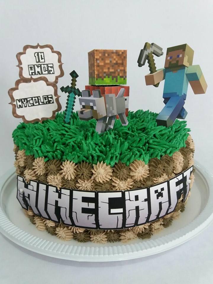 Bolo Minecraft Redondo