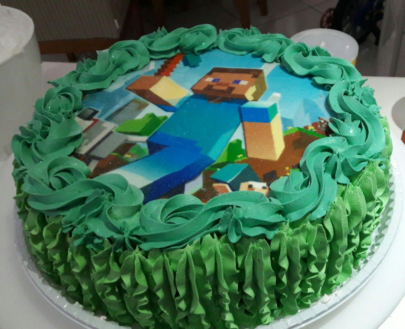 Bolo Minecraft de Chantilly
