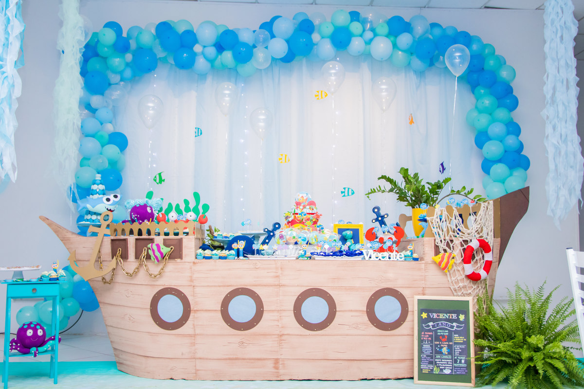 Decoração Festa Baby Shark