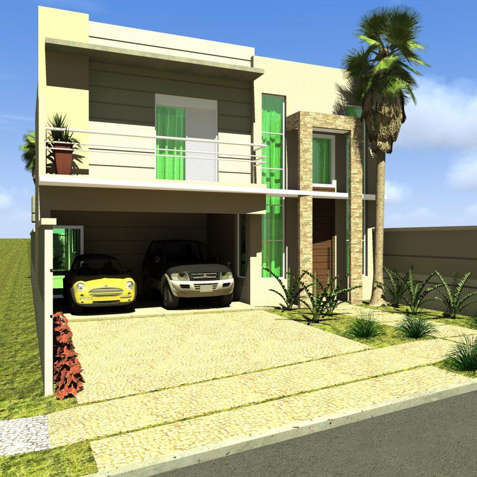 Fachadas de Casas Duplex