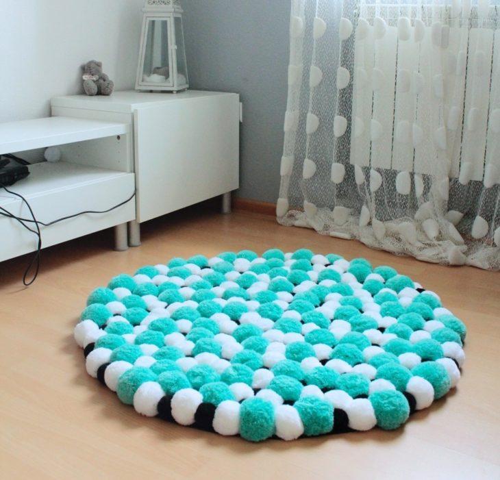 tapete de pompom