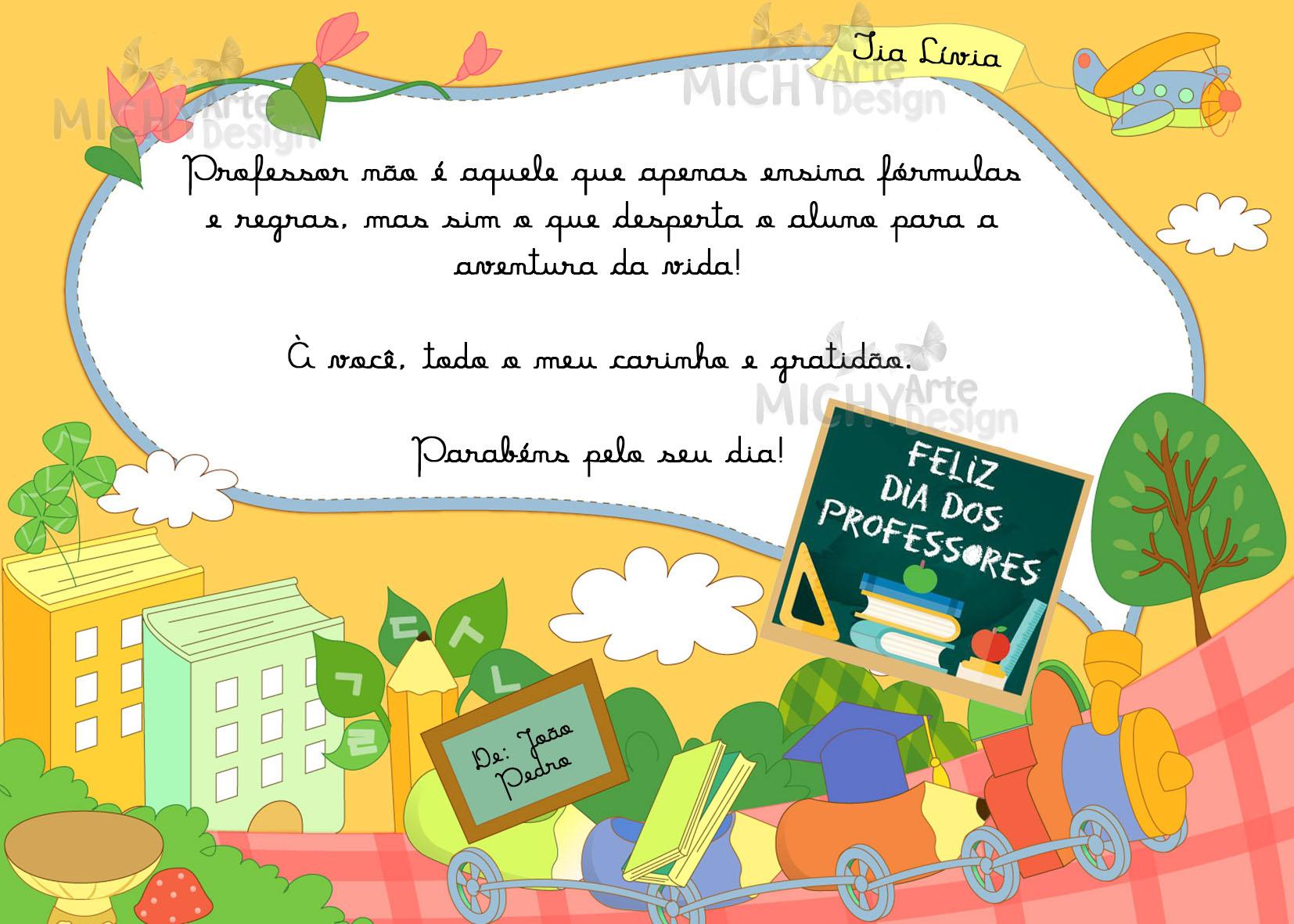 Cartao Para o Dia dos Professores