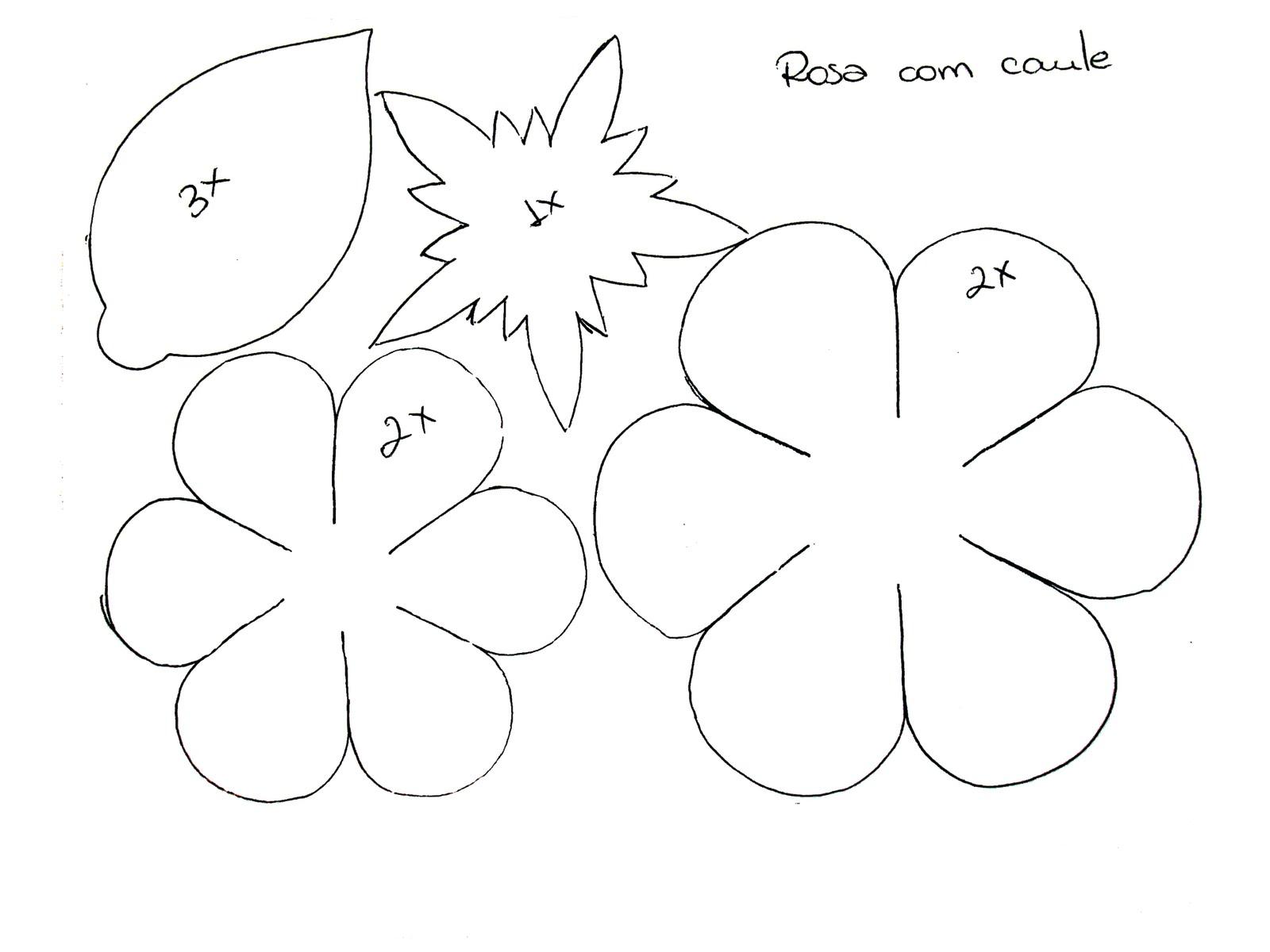 Flores de Papel Molde