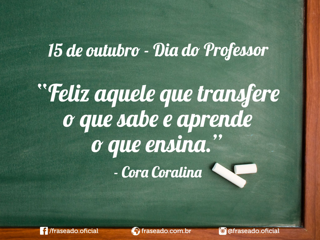 Frases do Dia Dos Professores