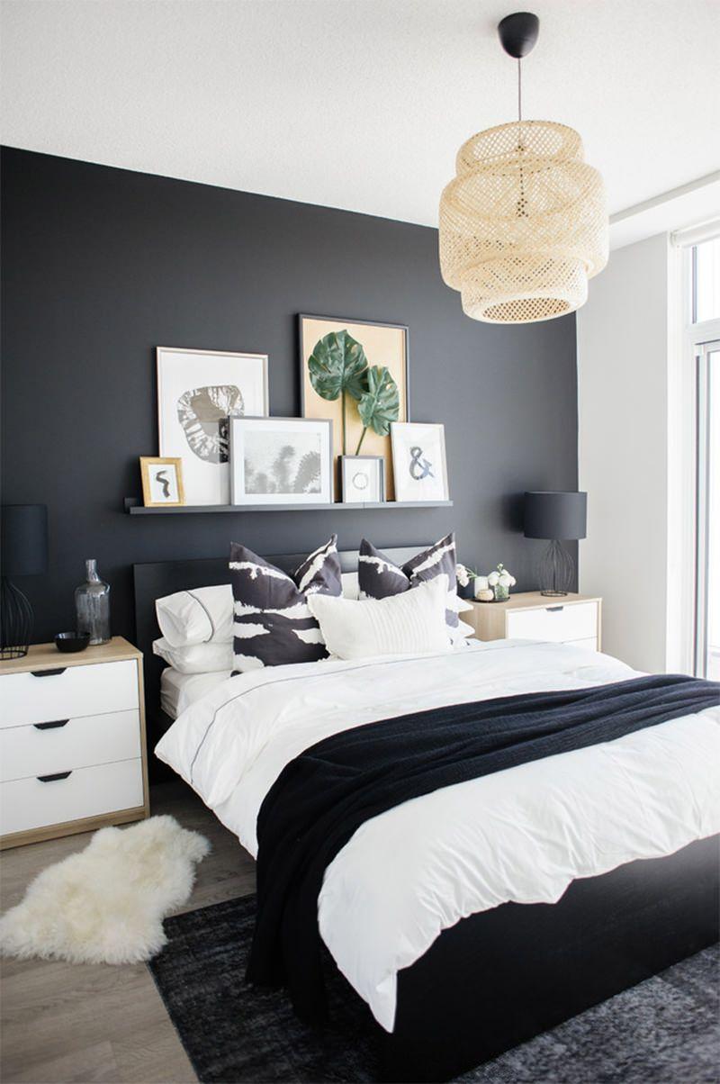 cores para quarto de casal preto