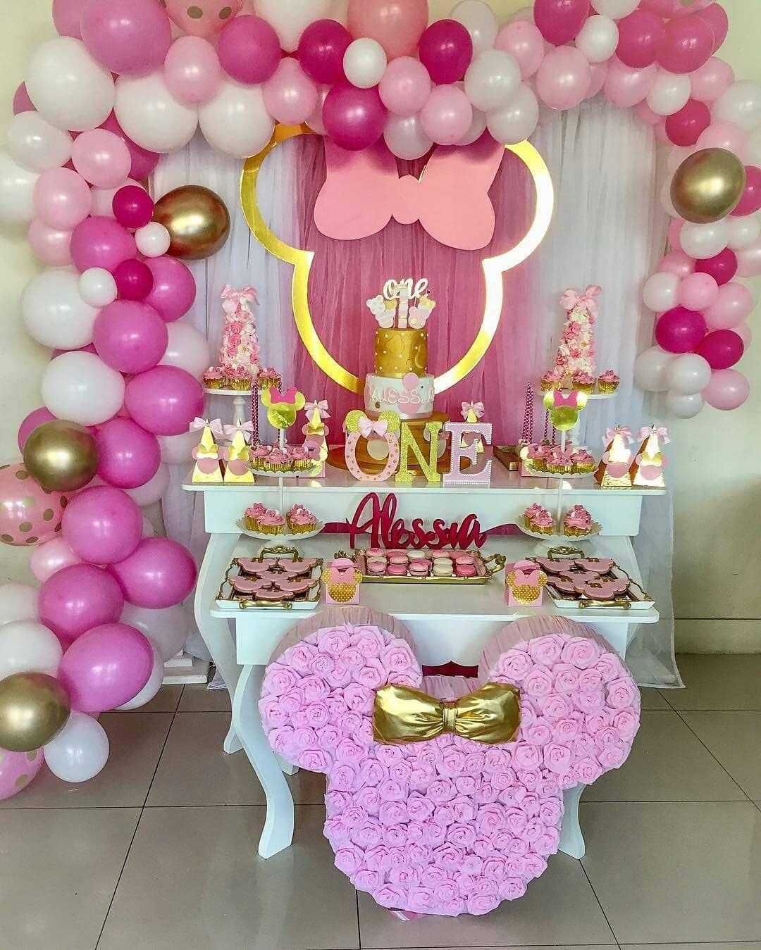 Decoração da Minnie Simples e Barata