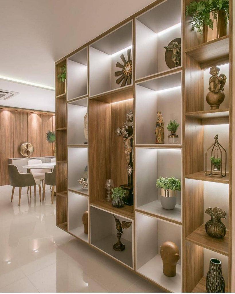 divisórias de ambientes Estante ou armários