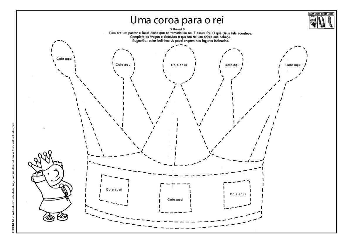 Molde de Coroa de Papel