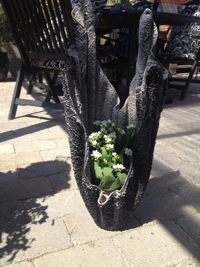Vaso de Toalha e Cimento