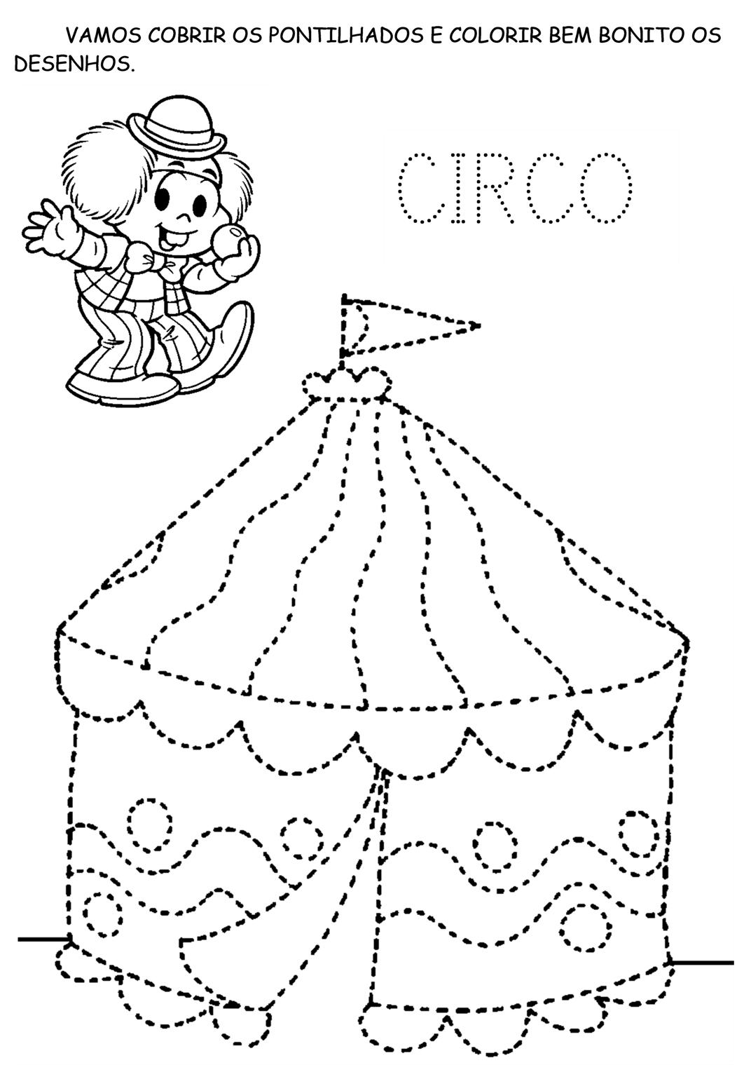 Circo Para Colorir