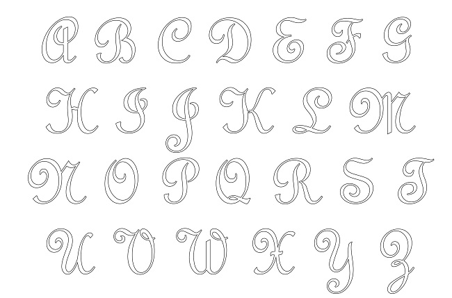Moldes De Letras Cursivas Alfabeto Para Imprimir Em Pdf E