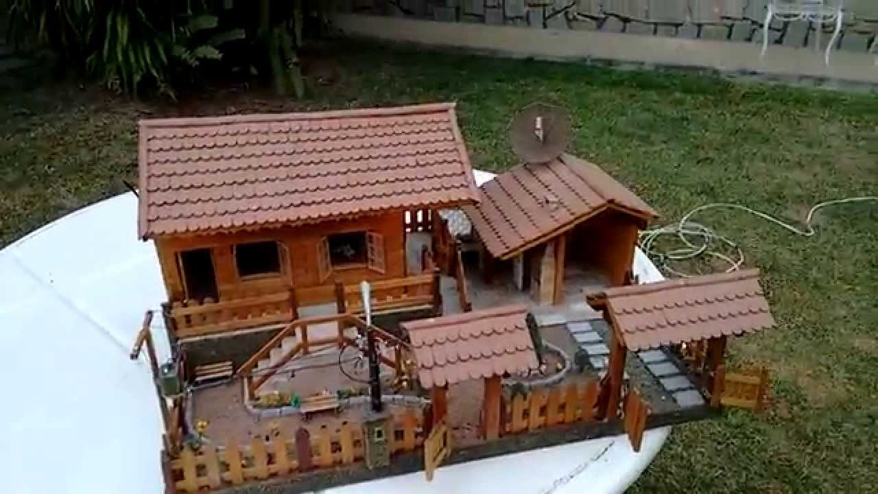 Maquetes de Casas de Palito de Picolé