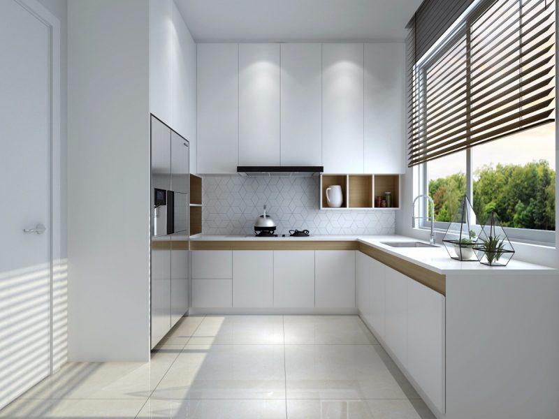 Cozinha Minimalista em L