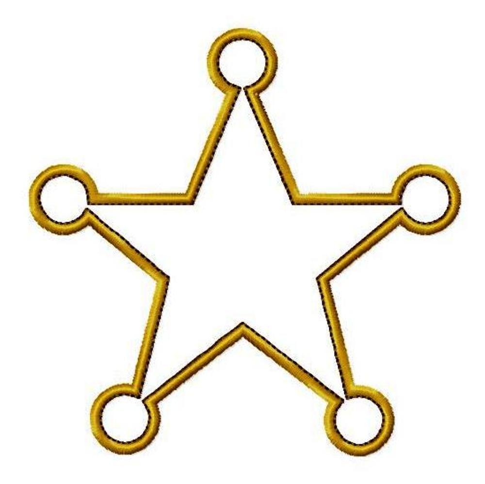 Molde de Estrela de Feltro